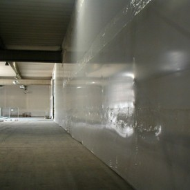 Interior Partition Wall / Dust Containment Using Shrink Wrap