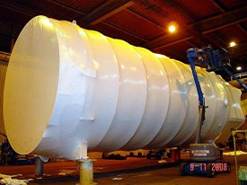 Large Vessel Shrinkwrapped